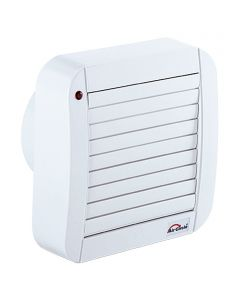 AIR-CIRCLE N39234 - fali ventilátor Időkapcsolóval zsaluval (Ø150mm, fehér)
