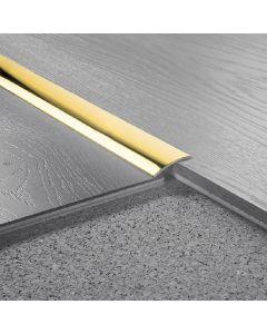 LOGOCLIC 30mm / 100cm - burkolatváltó profil ívelt (sárgaréz, ragasztós)