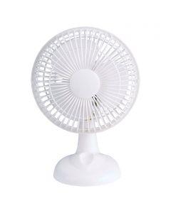 PROKLIMA - asztali ventilátor (Ø15cm, fehér)