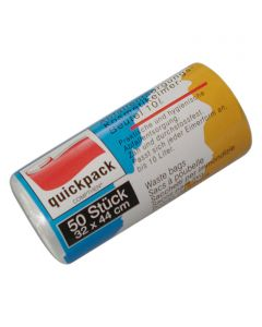 QUICKPACK - szemeteszsák (10L, átlátszó, 50db)