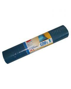 QUICKPACK - zárószalagos szemeteszsák (120L, kék, 10db)