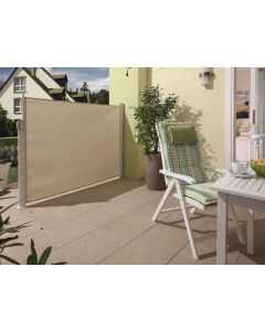 SUNFUN - oldalsó napellenző/belátásvédő 3x1,6m (bézs)