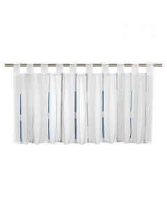 CALYPSO - vitrázsfüggöny (140x48cm, kék-fehér)