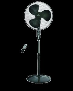 PROKLIMA - állóventilátor távirányítóval (Ø40cm, fekete)