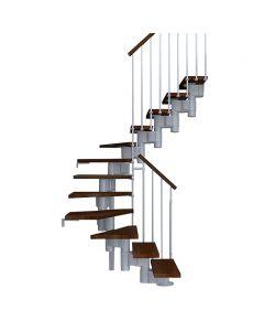 FONTANOT ARKÉ KOMPACT 74 - 2/4 fordulós beltéri lépcsőrendszer (szürke-sötétbükk)