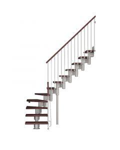 FONTANOT ARKÉ KOMPACT 74 - 1/4 fordulós beltéri lépcsőrendszer (szürke-sötétbükk)