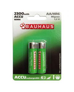 BAUHAUS - tölthető ceruzaakku (AA, 2300mAh, 2db)