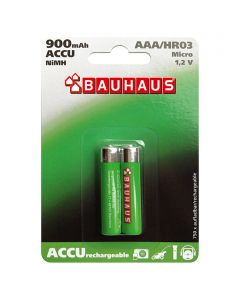 BAUHAUS - tölthető mikroakku (AAA, 900mAh, 2db)