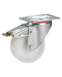 STABILIT - görgő (forgó, 150kg, 80mm, fékezhető, fehér)