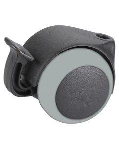 STABILIT - görgő (dupla, 30kg, 40mm, fékezhető, szürke-fekete)