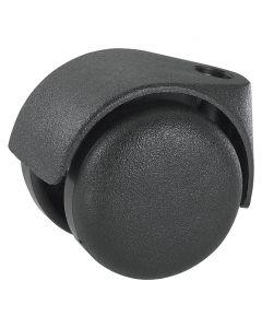 DÖRNER&HELMER - görgő (dupla, 40kg, 50mm, fekete)