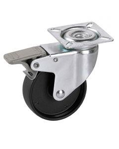 STABILIT - görgő (forgó, 35kg, 50mm, fékezhető, fekete)