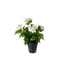 ARTFLEUR - selyemvirág (hortenzia, fehér, 38cm)