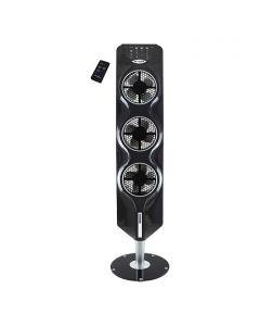 PROKLIMA - toronyventilátor üvegtalppal (112,4cm, fekete)