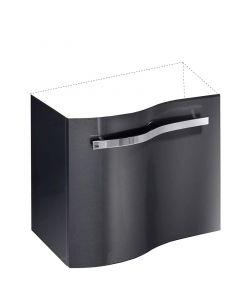 CAMARGUE WAVE MINI - mosdó alsószekrény (grafit, balos, 39x59x50cm)