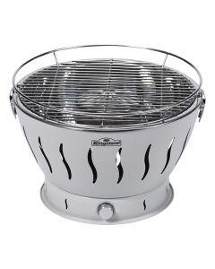 KINGSTONE EASY 32 - faszenes asztali grill (32cmØ, világosszürke)