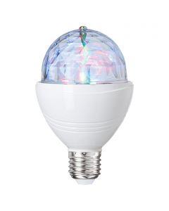 Disco fényforrás (LED, RGB, E27, 3W)