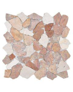 FLIESEN CIOT 30/130 - törtmozaik mix (fehér-rózsaszín, márvány, 30,5x30,5cm)