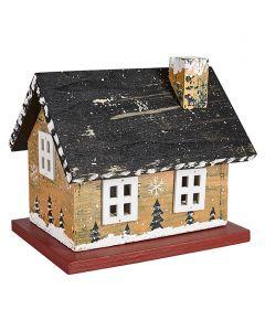 Világító faház (nagymama háza, sárga)