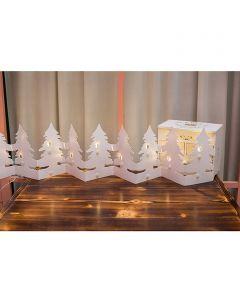 TWEEN LIGHT - beltéri papírfenyőfa-füzér (12 LED-es)