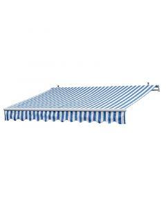SUNFUN - csuklókaros napellenző (4x2,5m, kék-fehér)