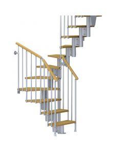 FONTANOT NICE 4 - 2/4 fordulós beltéri lépcsőrendszer (szürke-világosnyír)
