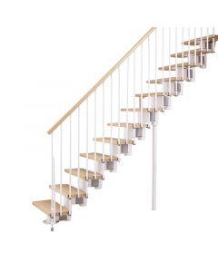 FONTANOT ARKÉ KOMPACT 74 - egyenes beltéri lépcsőrendszer (fehér-világosbükk)