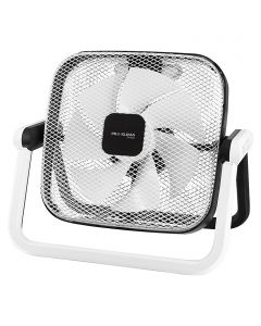 PROKLIMA - padlóventilátor (kertiszék-dizájn, fehér-fekete)