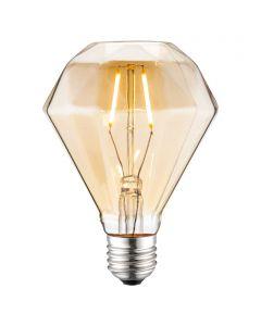 LED-fényforrás (E27, 4W, gyémánt, borostyán)