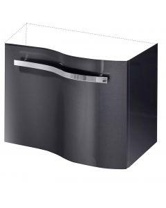 CAMARGUE WAVE MINI - mosdó alsószekrény (grafit, jobbos, 39x59x50cm)