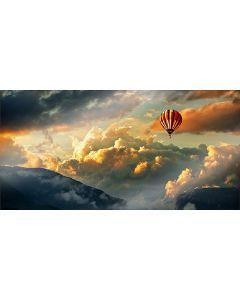 CUCINE FLYING BALLOON - konyhai üveg hátfal 80x40cm