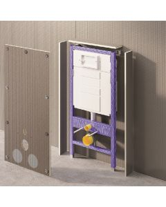 Építőlemezszett falsík alatti WC-tartály beépítéséhez