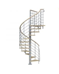 FONTANOT KLOEXTRA - beltéri csigalépcső (D160, szürke-világos bükk)