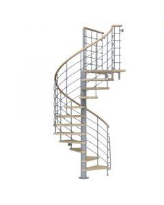 FONTANOT KLOEXTRA - beltéri csigalépcső (D140, szürke-világos bükk)