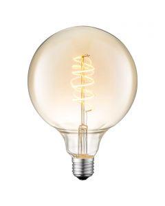 LED-fényforrás (E27, 4W, gömb, borostyán)