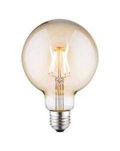 LED-fényforrás (E27, 4W, G95, borostyán)