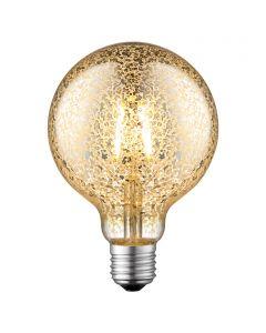 LED-fényforrás (E27, 4W, G95, ezüst)