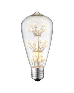 LED-fényforrás (E27, 1,5W, ST64, üveg)