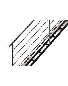 FONTANOT POP - egyenes lépcső (13 fokos, fekete-világos nyír)