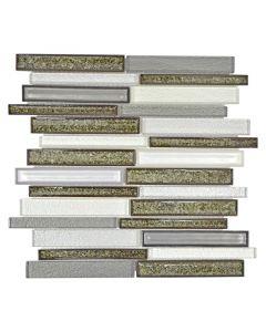 FLIESEN CRYSTAL MIX - mozaik (ezüst/szürke/barna mix, 30x30cm)