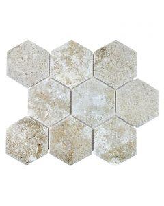 FLIESEN HEXAGON - mozaik (cementszürke, 25,6x29,55cm)