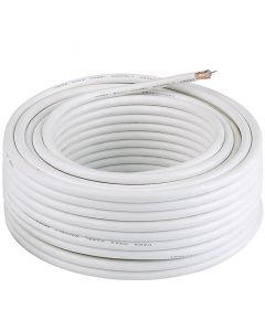 Koax kábel (4-szeresen árnyékolt, 50m, fehér)