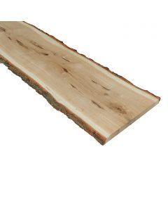 Szélezetlen polclap (tölgy, 26-30x120x2,6cm)