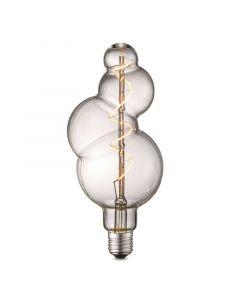 LED-fényforrás (E27, 4W, buborék, átlátszó)