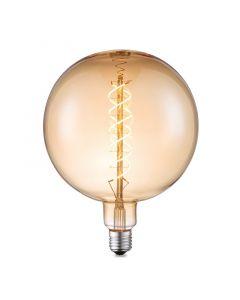 LED-fényforrás (E27, 6W, G180, borostyán, spirál)