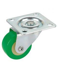 STABILIT - görgő (forgó, 20kg, 30mm, zöld)