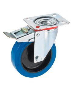 DÖRNER&HELMER - görgő (forgó, 200kg, 125mm, fékezhető, kék)