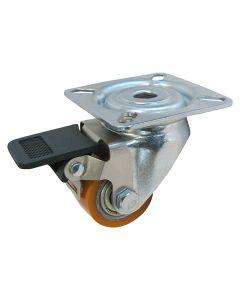 DÖRNER&HELMER - görgő (forgó, 100kg, 35mm, fékezhető, narancs)