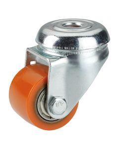 DÖRNER&HELMER - görgő (forgó, 100kg, 35mm, lyukas, narancs)