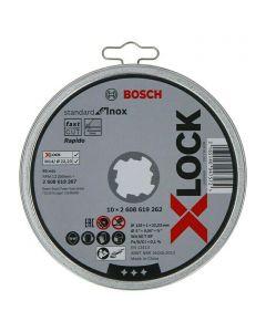 BOSCH PROFESSIONAL X-LOCK - vágókorong készlet inoxhoz (125mm, 10db)